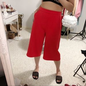 Stylish Orange Crop Pants